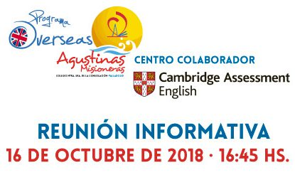 Martes, Agustinas Valladolid Centro colaborador de Cambridge English