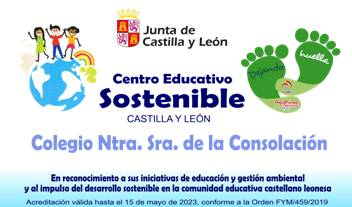 Sello Ambiental «Centro Educativo Sostenible» JCyL