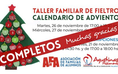 Taller Fieltro: Calendario de Adviento 2019 | COMPLETOS